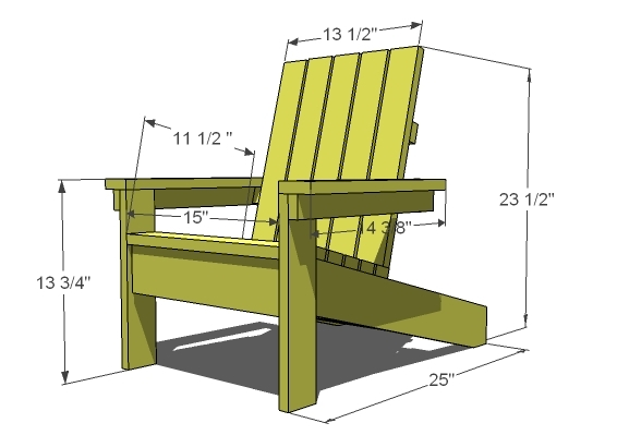 How to Build a Super Easy Little Adirondack Chair