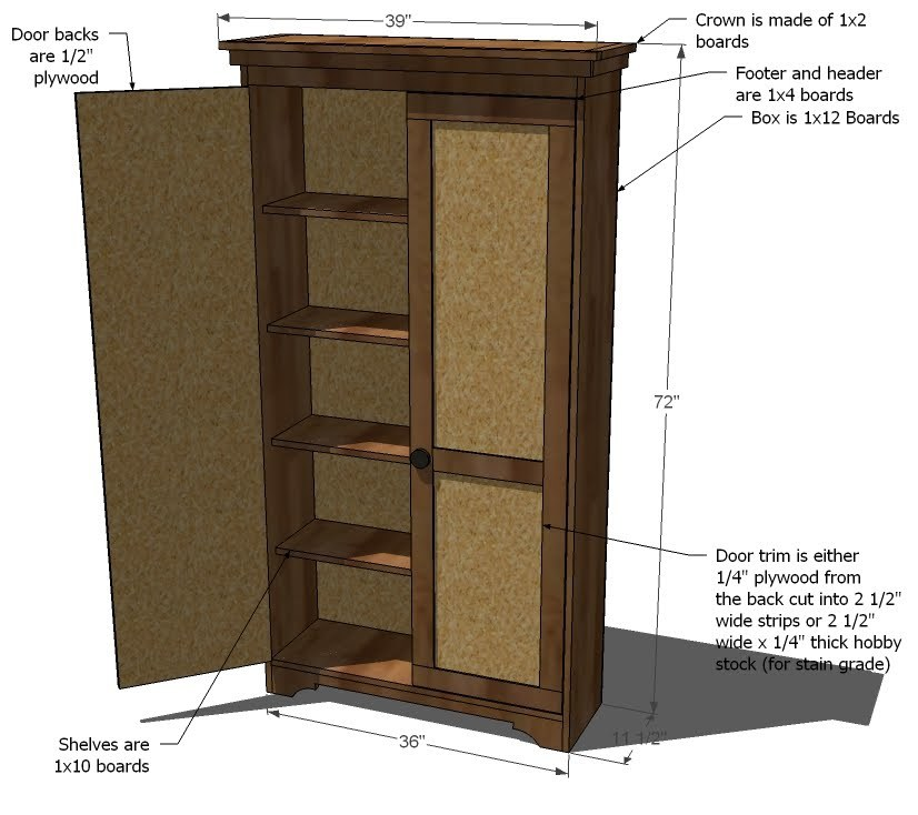 Wooden How To Build An Armoire Closet Pdf Plans