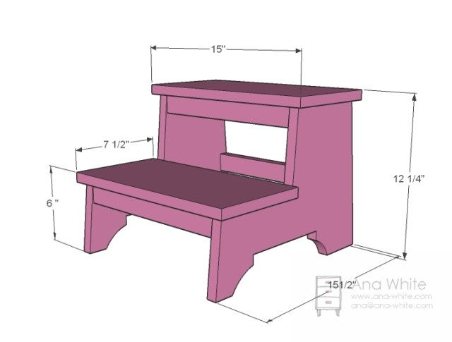 Download Free Kids Wood Step Stool Plans workbench plans diy ...