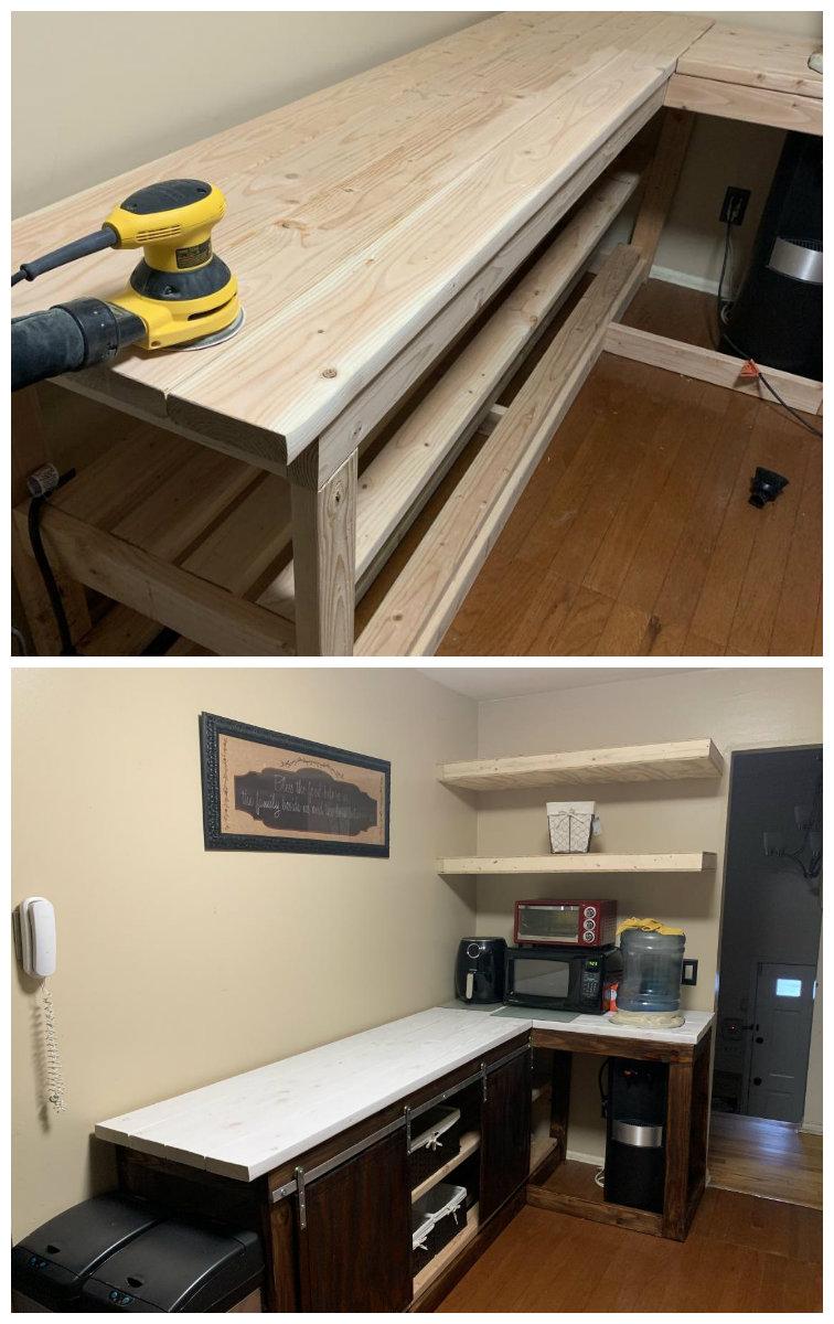 2x4 Kitchen Cabinets : kitchen, cabinets, Kitchen, Counter, White