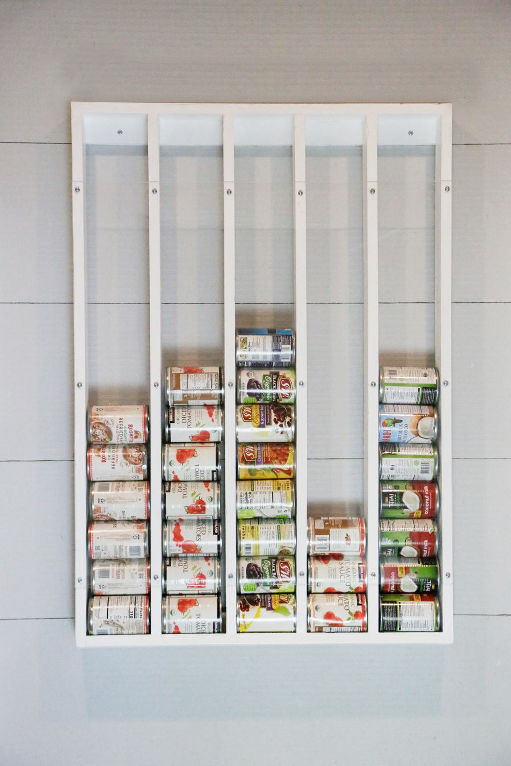 Wall Mounted Canned Food Storage : mounted, canned, storage, Mounted, Organizer, White