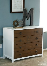 Ana White | Modern White Dresser with Wood Drawers - DIY ...