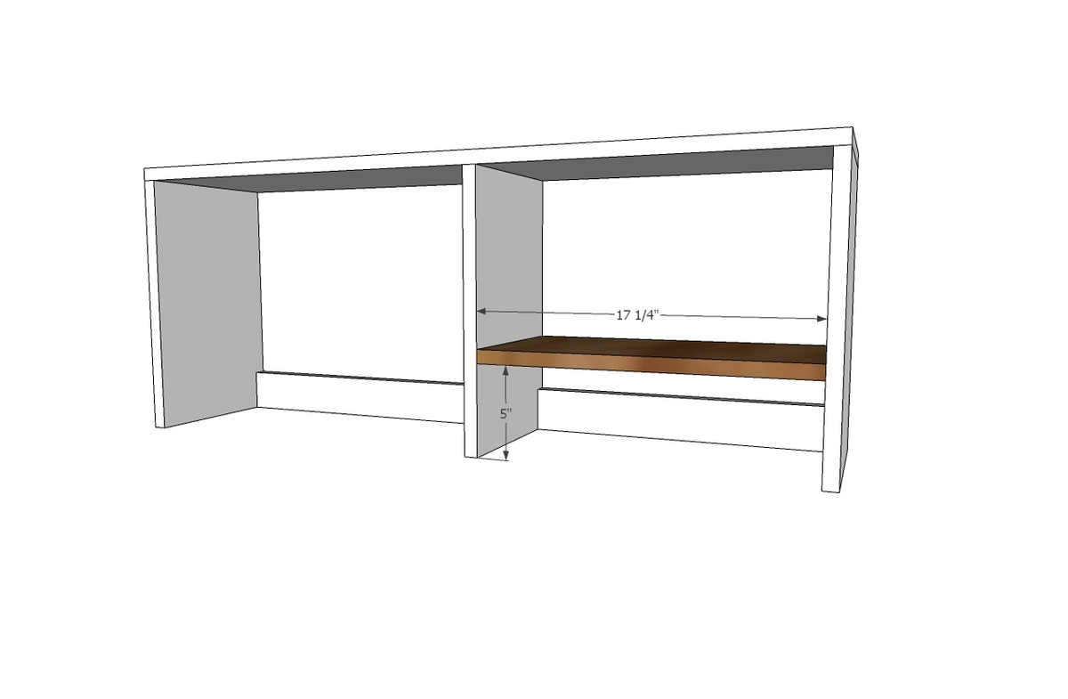 Desk Hutch For File Cubby Base Desk With
