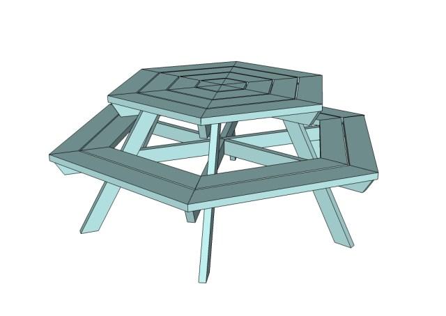 Hexagon Picnic Table Plans