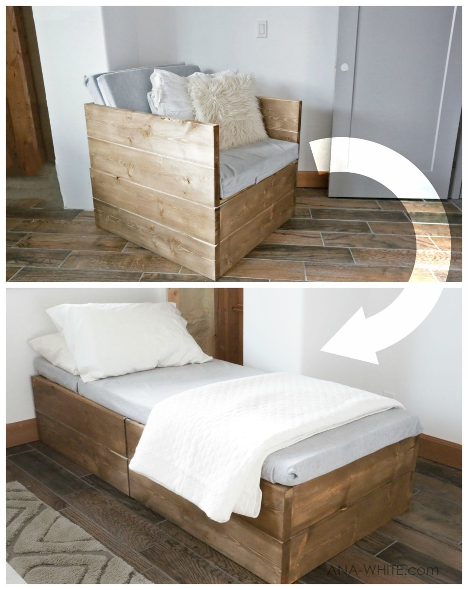 Chair That Turns Into A Twin Bed Twin Sleeper Chair Ana White