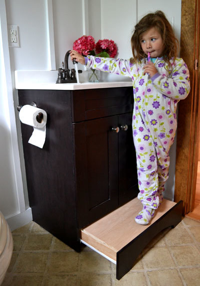 Toe Kick Drawer Step Stool