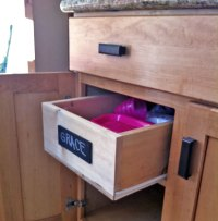 Ana White | Wood Pullout Cabinet Drawer Organizer - DIY ...