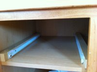 Adding pullout drawers to existing kitchen cabinets