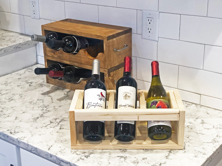 wood wine holder stacks stores and
