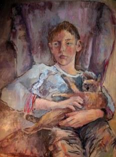 Andrés y shita, 50x70. óleo sobre lienzo,2008-