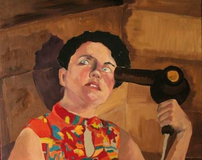 El secador suicida,50x70,óleo sobre lienzo, 2009.