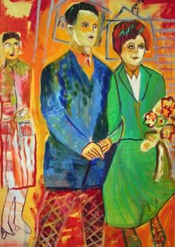 mis padres en el dia de su boda, óleo sobre lienzo, 2008.