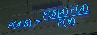 Teorema de Bayes en luces de Neon