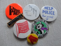 Political badges 70s/80s