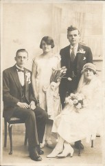 Mary and Tom with Anna as bridesmaid, 1927