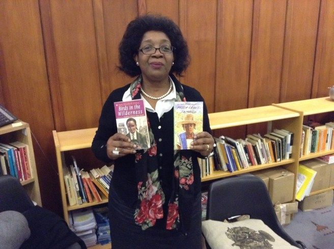 Velma McClymont with two of her books