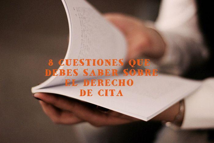 8 CUESTIONES SOBRE EL DERECHO DE CITA