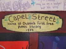 Library street art, Dublin