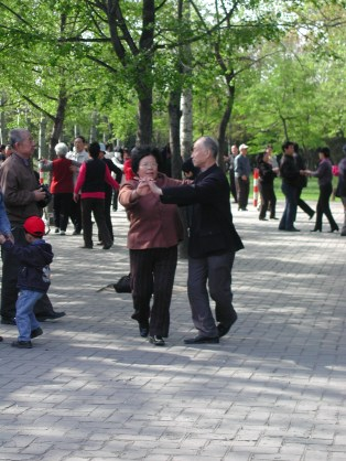 Dancing in the park