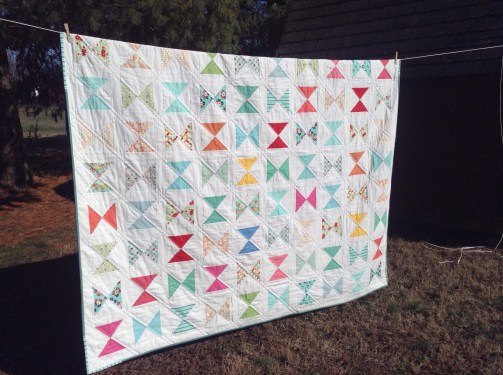 hourglass quilt / anabelula.wordpress.com