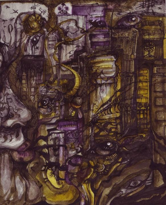 New Crobuzon : crobuzon, Nightmare, Cityscape,, Crobuzon, Interpretation, Anachroneironaut