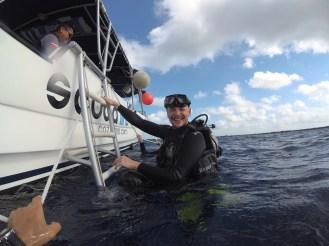 after a dive