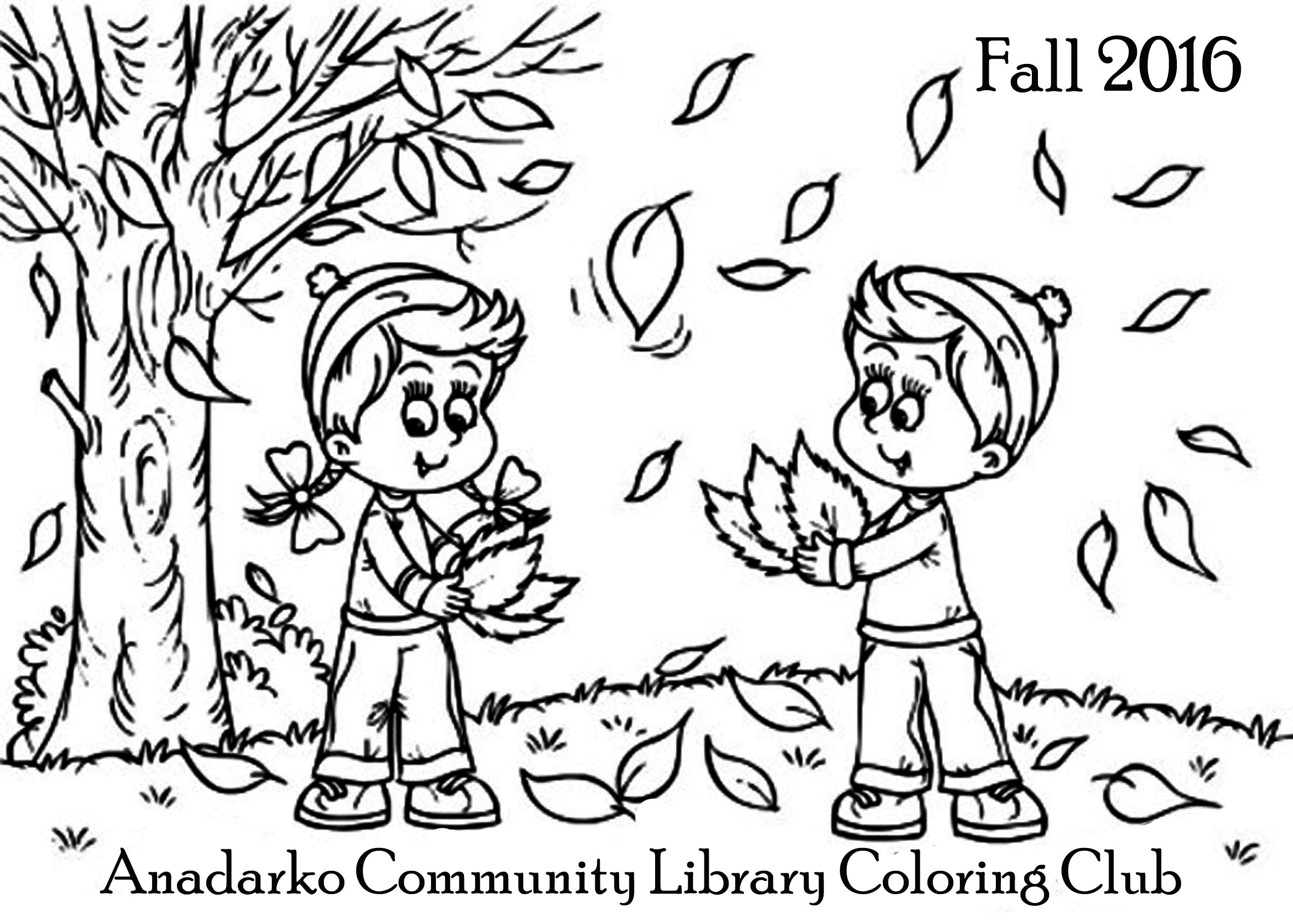 Coloring Club — Anadarko Community Library