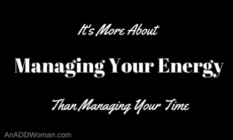 It's About More Than Managing Your Time