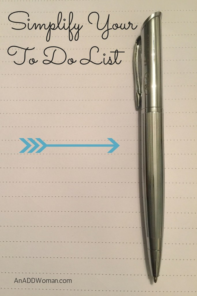 Simplify Your To Do List