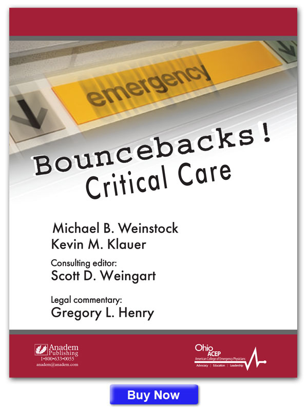 Book cover of Bouncebacks! Critical Care.