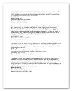 Testimonials for Bounceback! Critical Care.