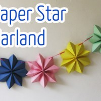 Paper stars garland