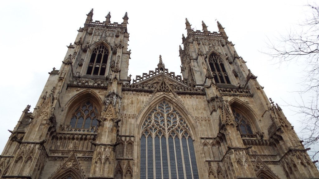 Minster Cathedral from the front, just before we climbed 275 stairs to the top