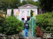 Outside the Unicorn House in Portmeirion