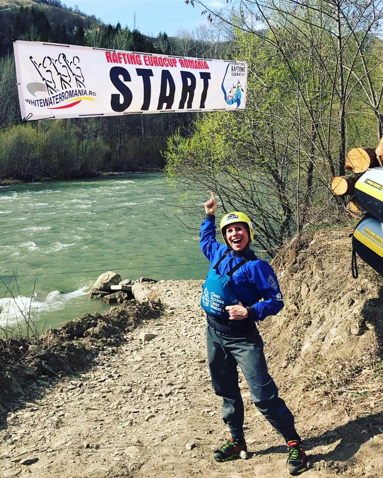 White Water Raft Racing In Romania