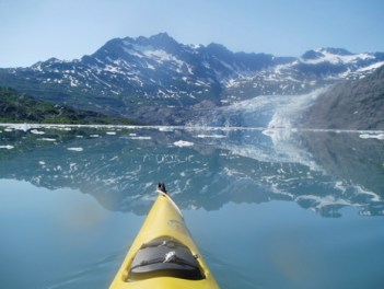Deep fjords surrounded by towering mountains. A paddlers paradise! Shoup Glacier