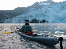 Paddling by Shoup Glacier