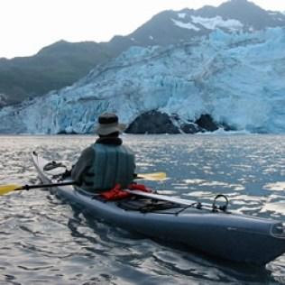 Paddling by Shoup Glacier