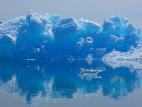 Iceburg reflected in Columbia Bay