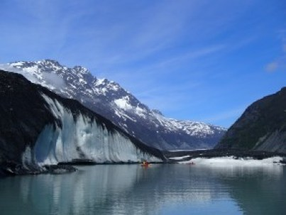 The face of Valdez Glacier