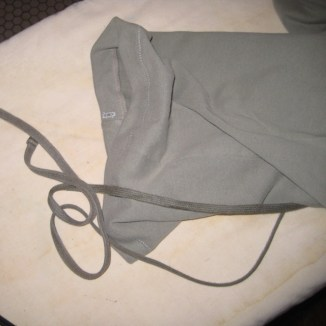Photograph of shoe bag with drawstring