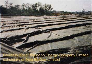 Korat lagoon AD biogas digester