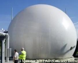 a biogas store gasometer