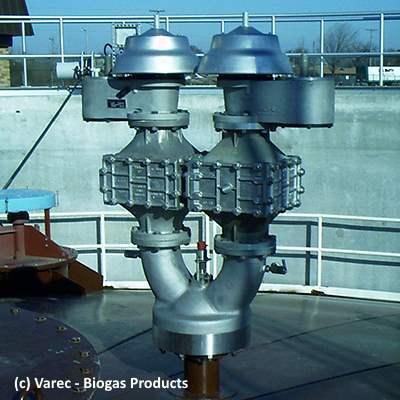 Varec biogas product reactor cover valve
