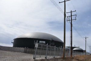 Image shows: An anaerobic digestion plant which can be upgraded to biomethane