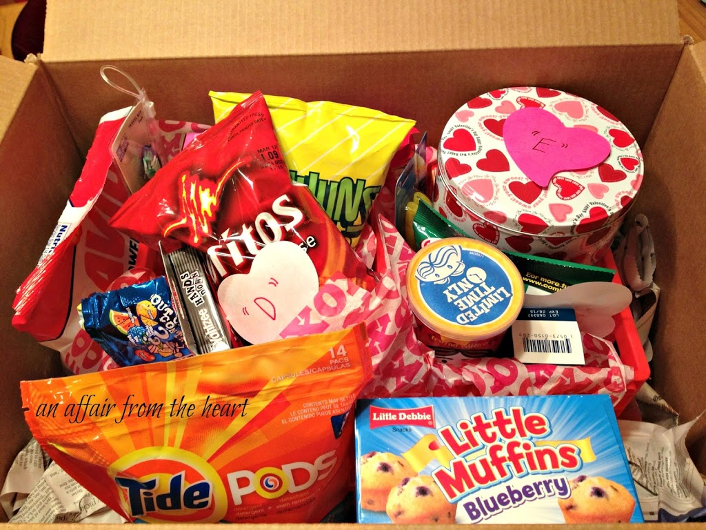 College Care Package Valentine Style