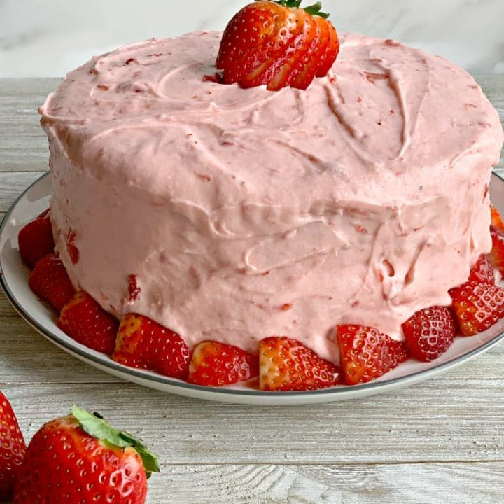 Strawberry Cake Grandmothers Favorite With Real Strawberries Inside