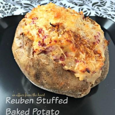 Reuben Stuffed Baked Potatoes