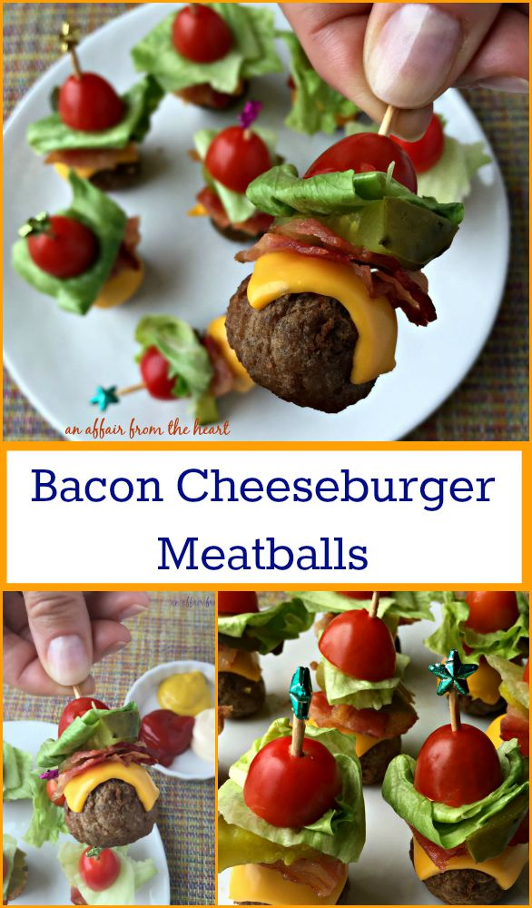 Bacon Cheeseburger Meatballs