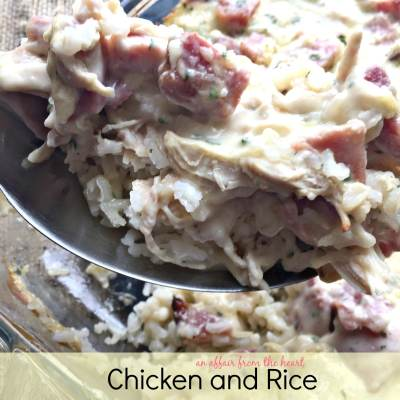 Chicken and Rice Cordon Bleu Casserole